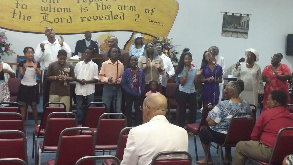 Sunday Service Baptist Church Singing Gospel Choir