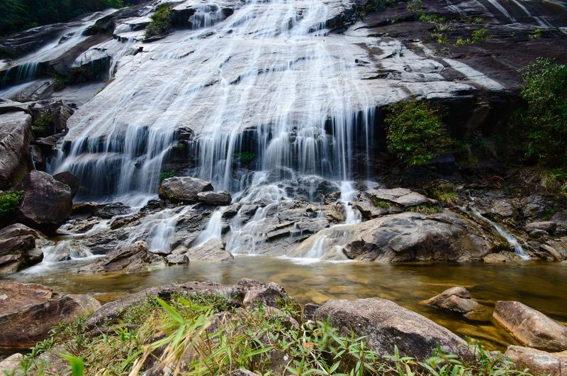 Natural Waterfall at Gunung Stong, state park Kelantan, Malaysia Waterfall Waterfall #water #landscape #nature #beautiful Amazing Amazing View Nature Wallpaper Background Malaysia ASIA Water Waterfall Beauty Rock - Object Landscape Power In Nature Tranquil Scene Flowing Water Flowing