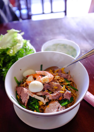 Close-Up Of Vietnamese Food Served In Bowl