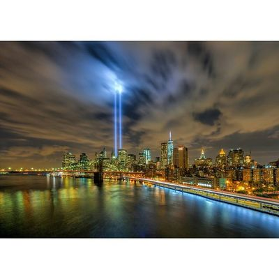 Never Forget Tributelights Tributeinlights 911 September11th WorldTradeCenter Oneworldtradecenter Manhattanbridge Brooklynbridge Fdrdrive Newyorkcity NYC Nycskyline  Nycbuildings Lowermanhattan Downtown Nycicons Ig_nycity Nyclandmarks Nycphotographer Longexposure Nycnight HighDynamicRange HDR Matthewpugliese Matthewpugliesephotography