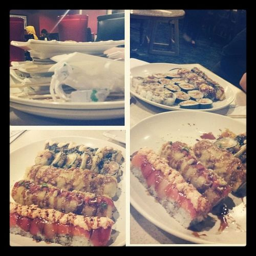 My cravings have been satisfied! Matthew &Zack&Idate Welovefood Yummysushi 9rollseatenby3people