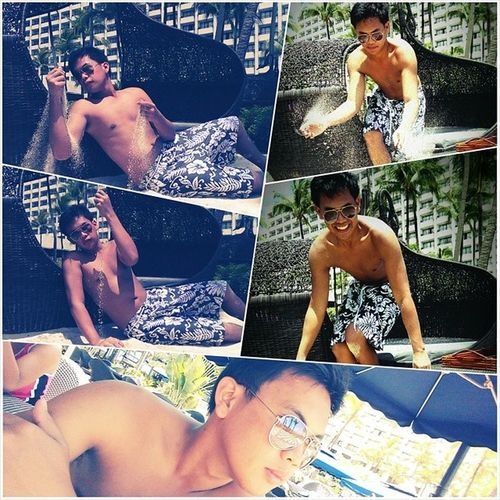 After the spiral buffet .. went swimming MyBestKrisTvMoment XD Sofitel