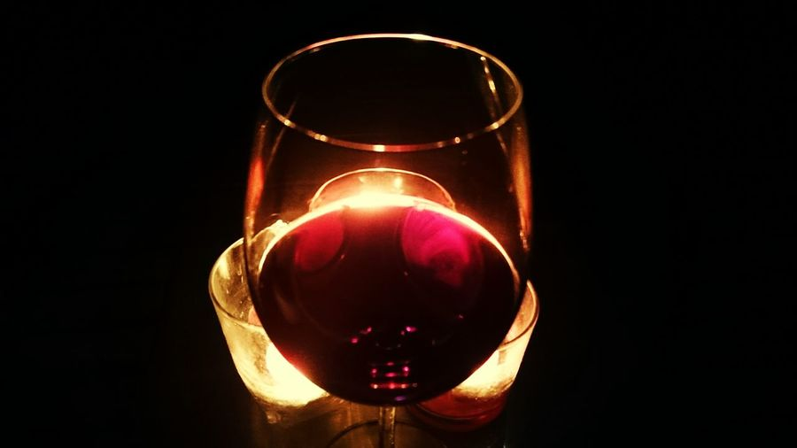 Red wine... Home alone...