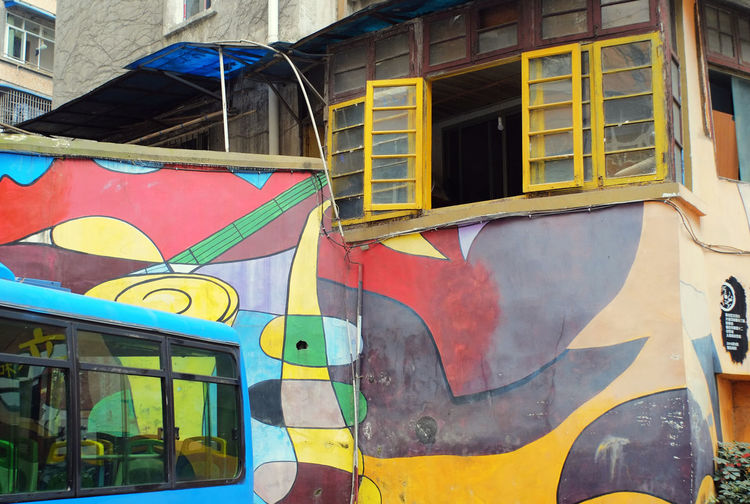 Graffiti on building