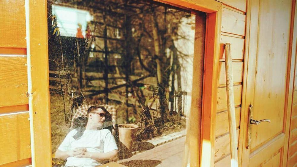 Window Reflections Reflections Reflection Chilling Summertime
