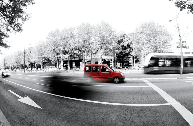 Red Car Blackandwhite First Eyeem Photo