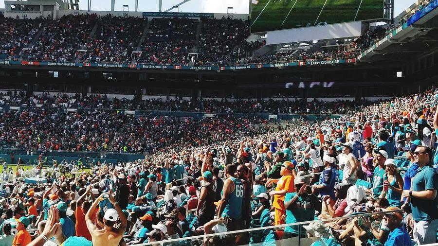 Crowd at soccer stadium