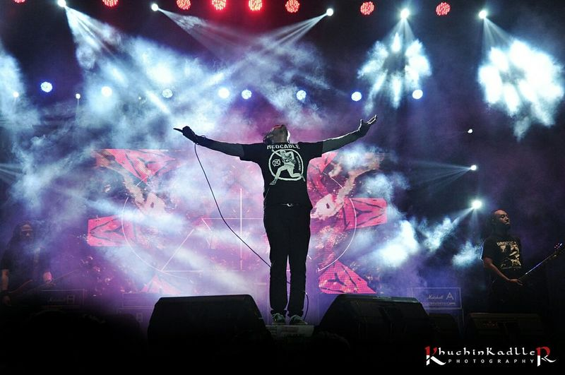 Vicky Mono ( BURGERKILL ) On Stage At STREETWEAR 2014 photoconcert stage photography stageid stage photo indonesia concert photography concerts music concert live music music metal Burgerkill Begundal Streetweartour2014 Khuchinkadller