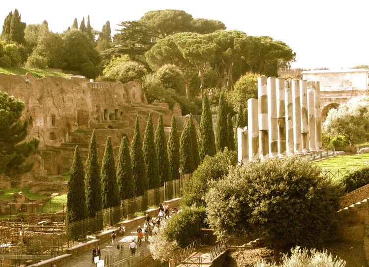 Via Sacra Forum High Angle View Italy Rom Via Sacra