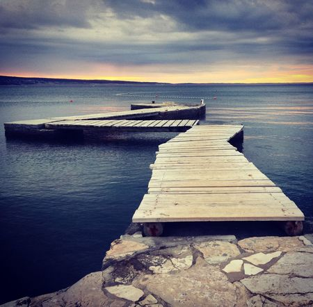 Sea Water Horizon Over Water Nature Beauty In Nature Sky Wood - Material Tranquility Scenics Tranquil Scene No People Outdoors Beach Sunset Day Pier Calm Croatia Blue Grey Solitude