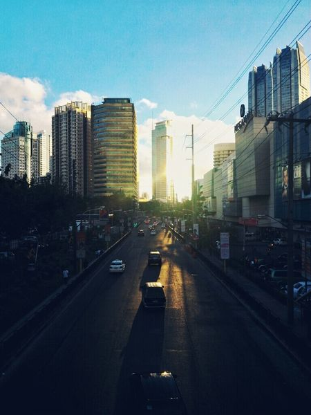 Cityscape Architecture Building Mandaluyong City Philippines Light Afternoon Sky Skyline Clouds & Sky