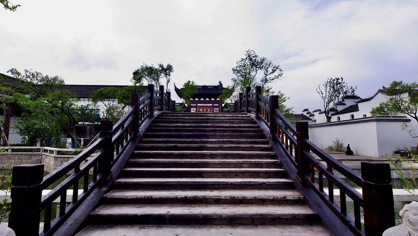 上海松江广富林遗址 Railing Sky Tree Built Structure Nature Architecture Plant