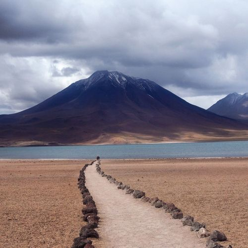 Beautiful landscape - Chile Chile Outdoors Southamerica Landscape Lagoon Laguna Miscanti Travels Travelblogger Desert Sand Snow Wilderness Area Beach Awe Salt - Mineral Majestic Dramatic Sky Natural Landmark Storm Cloud Storm Atmospheric Mood Snowcapped Mountain Dramatic Landscape Salt Flat
