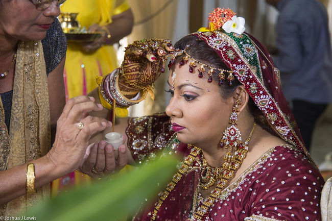 Bride Wedding Day Ceremony Still Life Eye4photography  Indian Trinidad And Tobago People Wedding Photography Red Nikon Marriage  Bokeh Makeup Ticker Wife