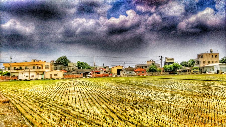 Taking Photos Enjoying Life Old Buildings Houses Rice Field Country Life Photography Sky And Clouds Check This Out Enjoying Nature