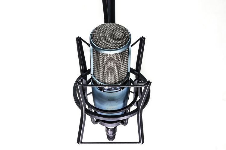 microphone isolated on white background Copy Space Mock Up Isolated Isolated On White Microphone Input Device Metal Technology Music Studio Shot Cut Out Indoors  No People White Background Close-up Equipment Communication Arts Culture And Entertainment Single Object Talking Sound Recording Equipment Man Made Object Electrical Equipment