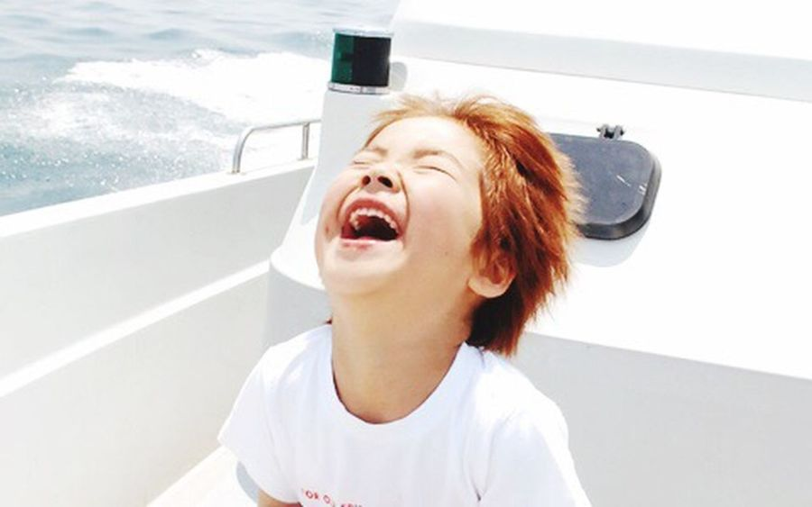 summer girl Mouth Open Fun Excitement Sea And Sky Summer Smile Girl Cheerful Sparks