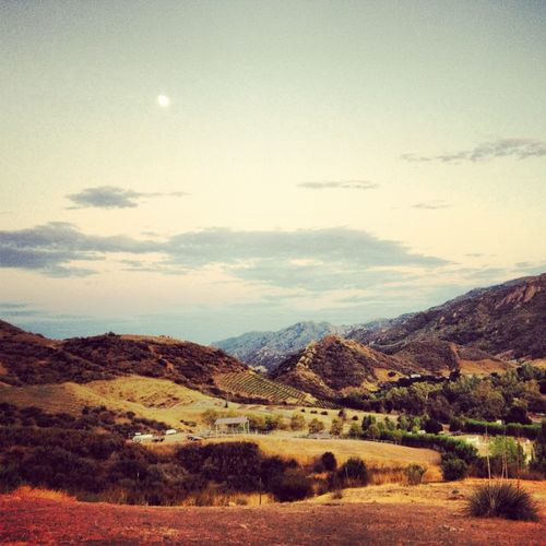 Agoura Hills California Moon And Sky