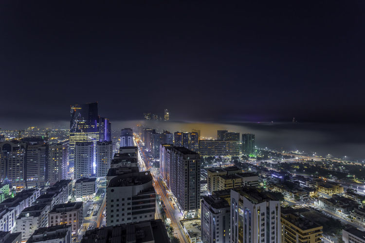 A foggy evening on abu dhabi