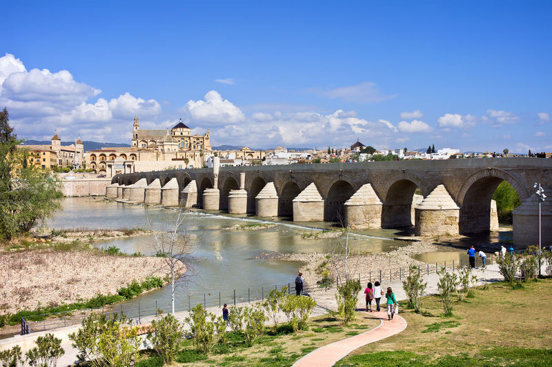 Roman Bridge on Guadalquivir river in city of Cordoba, Andalusia, Spain Ancient Andalucía Andalusia Cordoba Spain Córdoba Guadalquivir SPAIN Travel Arch Bridge Architecture Bridge Bridge - Man Made Structure Building Exterior Built Structure Europe History Landmark Monument River Roman Bridge Spaın Travel Travel Destination Travel Destinations Water