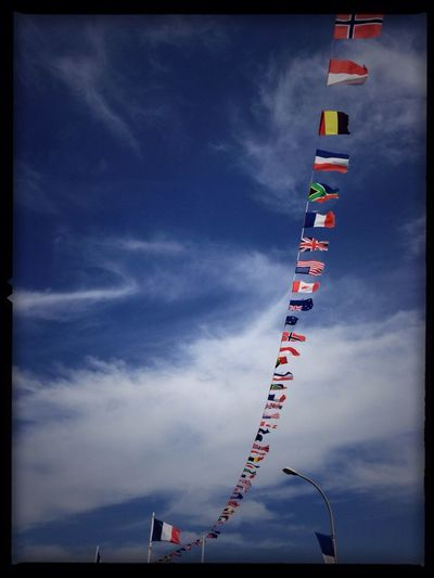 Clouds And Sky Sky Flag Flags