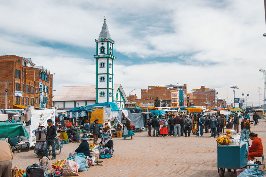 El Alto Views. Church City Life Cityscape El Alto La Paz Latin America Travel Architecture Building Building Exterior Built Structure City Cloud - Sky Incidental People Large Group Of People Market Stall Outdoors Real People South America Street Street Market Tower Travel Destinations Urban Urbex The Street Photographer - 2018 EyeEm Awards