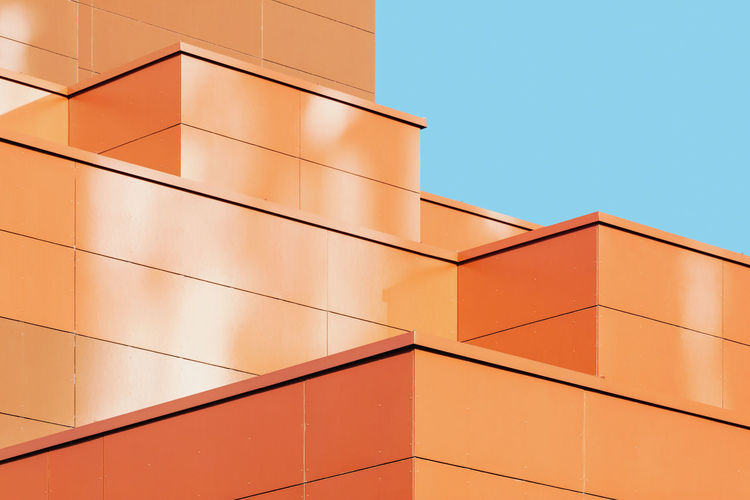 Abstract geometric structure of modern building facade