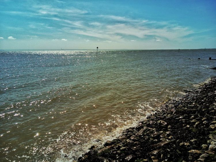Tide coming at Southend seafront. The Sea Tides Southend On Sea This Is Britain British Seaside Southend Sea And Sky Seaside Seascape Sea Landscape Sea View Sky Clouds Tranquility Serenity Blue Wave