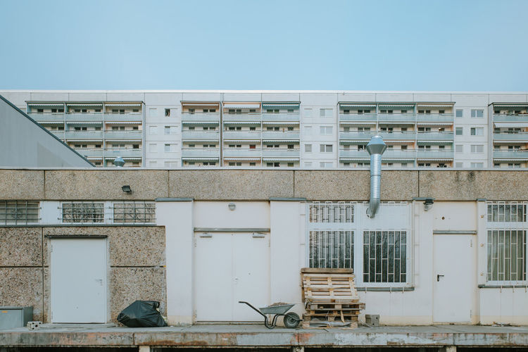 Former communist prefabricated panel construction buildings in leipzig, germany