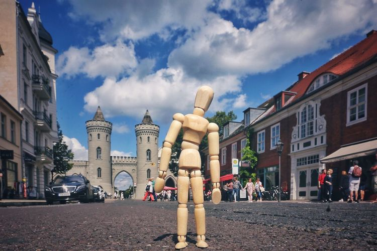 Bright day in Potsdam Architecture Built Structure Cloud - Sky Outdoors City Woodyforest Day Travel Travel Destinations Germany Potsdam Creativity Summer Streetphotography