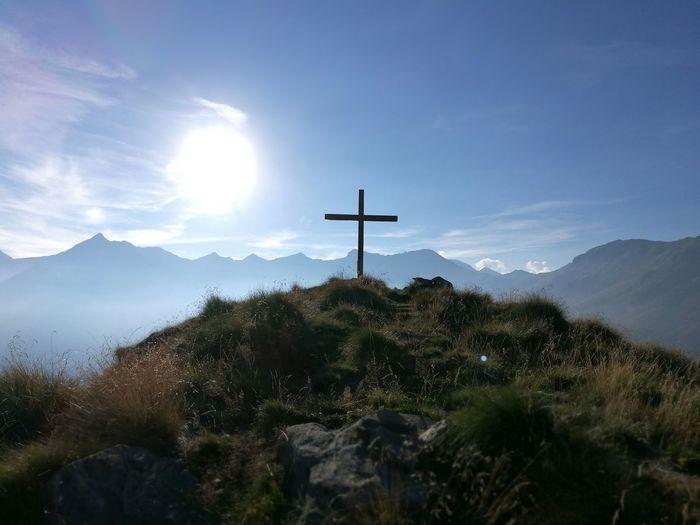 Sky Croce Montana Montains    Trekking Fatica Vista Valley Sun Good Taking Photos