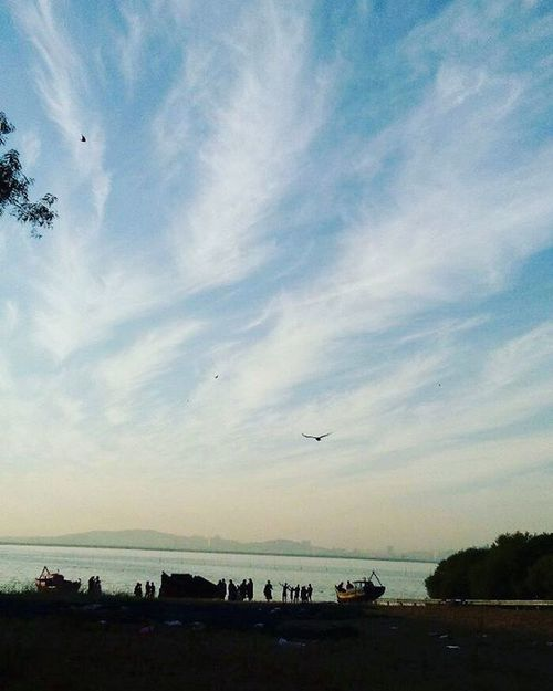 Beautiful Calm Sky Arabiansea Vashi Navimumbai