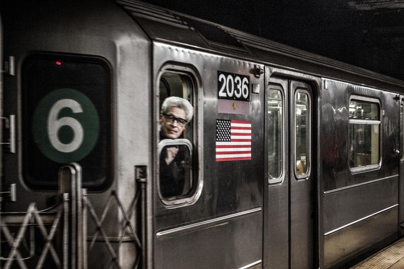 Adult Adults Only Day Indoors  Manhattan Metro Metrodriver Newyork Newyorkcity One Person People Public Transportation Rail Transportation Stationary Subway Train Train - Vehicle Transportation