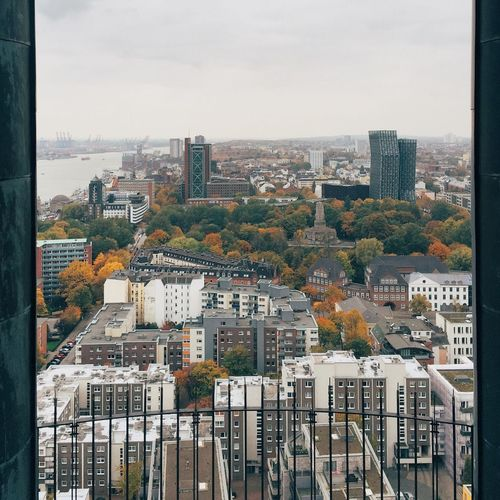 Hamburg Urban Landscape Enjoying The View Cityscapes Autumn From My Point Of View From The Rooftop St Pauli Harbour Architecture