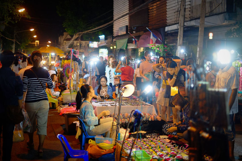 Night Market at Chiang Mai, Thailand. Chiang Mai | Thailand FUJIFILM X-T2 Nightphotography Thailand Adult Adults Only City Crowd Fujifilm Fujifilm_xseries Illuminated Large Group Of People Leisure Activity Lifestyles Men Night Night Market Outdoors People Real People Standing Women