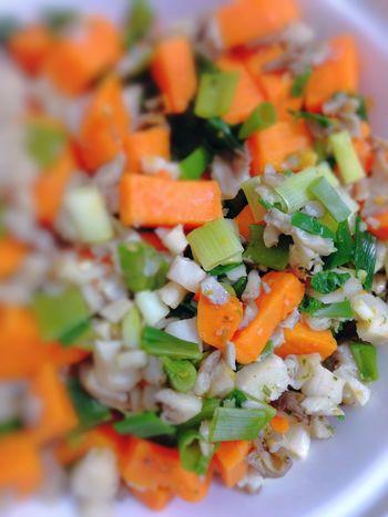 Depht Of Field Sweet Potatoes Oyster Mushrooms Green Onion 365 Photos In 2015 Healthy Food Vegetarian Food Vegan Food Vegetables Dinner