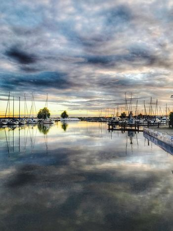 Sky Cloud - Sky Reflection Sunset Nature Water Beauty In Nature Tranquil Scene Outdoors Reflection Dont Forget To Smile
