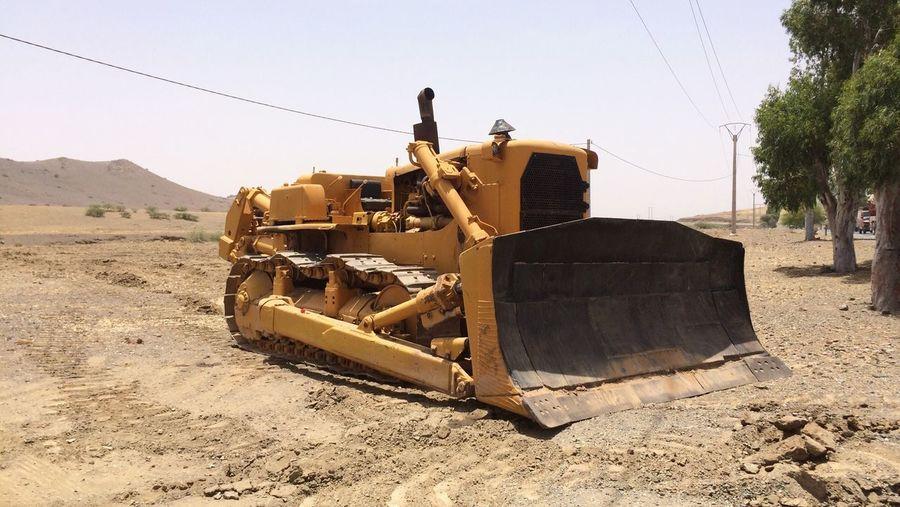 Machine excavator at building site
