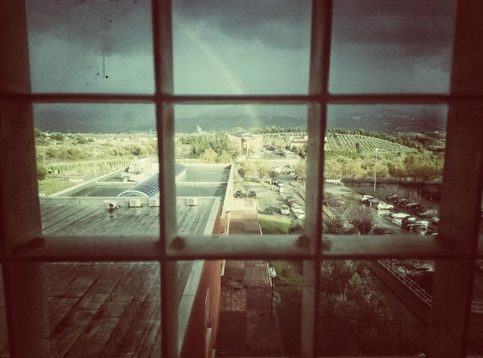 Window Indoors  No People Day Close-up Architecture Sky Green Rainbow Rainy Days First Eyeem Photo