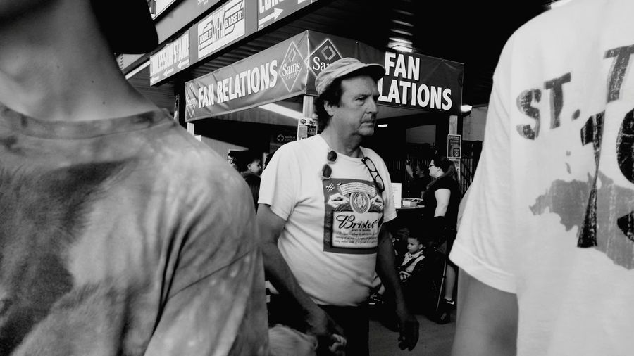 this dude was walking a kid around, rocking double sunglasses and a budweiser tee Streetphotography Streetphoto_bw Taking Photos Sociology Photooftheday Blackandwhite Photography Candid Urban