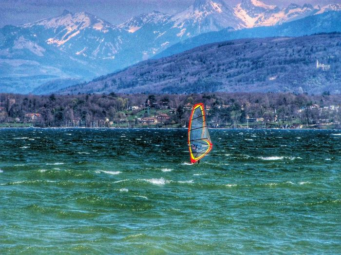 Windsurf Lac Léman versoix Switzerland Spring Into Spring Landscape Landscape_photography Landscspe_collection Landscapes And Lakeviews