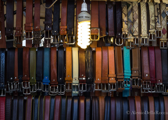 Belt  Belts Beltstall Colors Hanging Large Group Of Objects Multi Colored No People Stall Store Variation