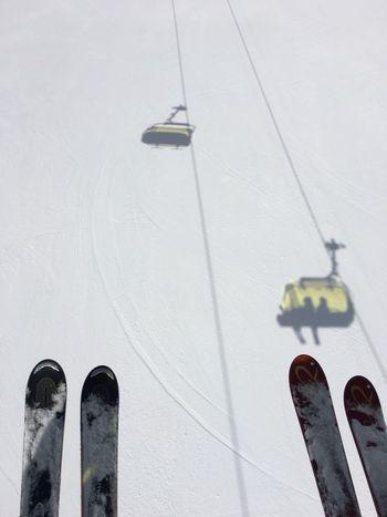 Skiing Snow ❄ Shadows & Lights Yellow Engadin St Moritz