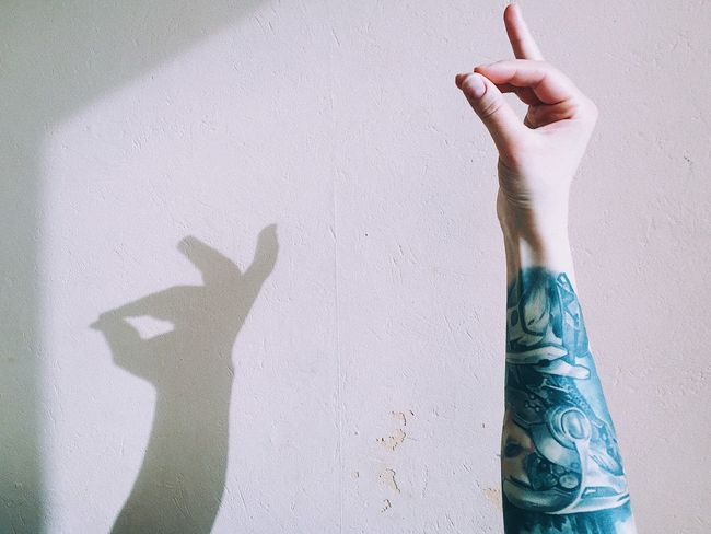Human Hand Human Body Part Wall - Building Feature Shadow Human Finger One Person Real People Day People Lifestyles