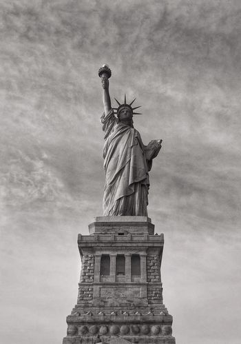 LIBERTY STATUE Liberty Statue Statue Sculpture Human Representation Female Likeness Art And Craft Travel Destinations Cloud - Sky Sky Low Angle View Architecture Tourism Travel City Outdoors No People Day