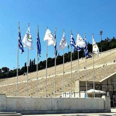 Old Olympic stadium in Athens .