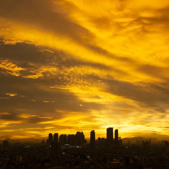 Chaotic Silhouette Sunset Sky Clouds Clouds And Sky Afternoon Afternoon Sky Light Chaotic City Beauty Yellow Yellow Sky Cloud - Sky City Cityscape Urban Skyline Modern Sunset Illuminated Romantic Sky Cloudscape Moody Sky Dramatic Sky