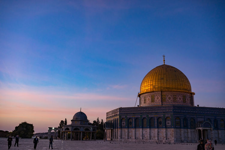View of masjidil aqsa mosque against sky in palestine