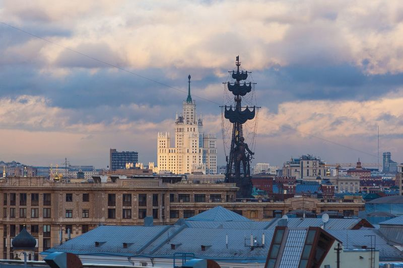 No People Architecture Skyscraper Outdoors Cityscape Sky City Day Urban Skyline EyeEmNewHere Dusk In The City Dusk Sunset Moscow Moscow City Moscow, Москва Moscow, Russia Stalinist Architecture Peter The Great Stalinka Stalin Skyscraper