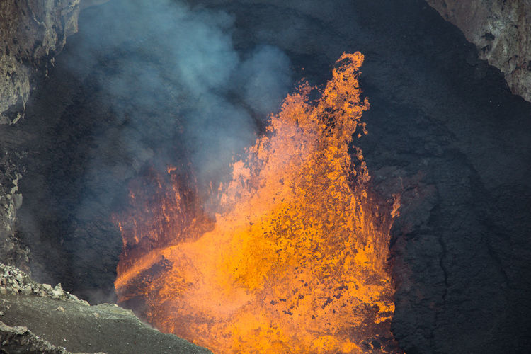 Beauty In Nature Burning Day Heat - Temperature Lava Nature No People Outdoors Volcano